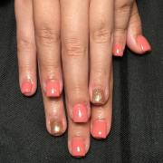 peach nail art design ideas