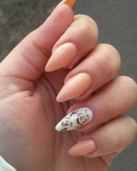 21+ Peach Nail Art Designs, Ideas | Design Trends ...