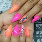 pointed nail art design ideas