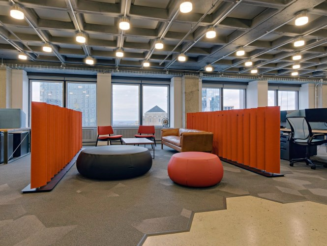 Square Decor Roof For Office Design Tech Company