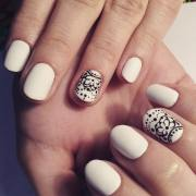 white nail art design ideas