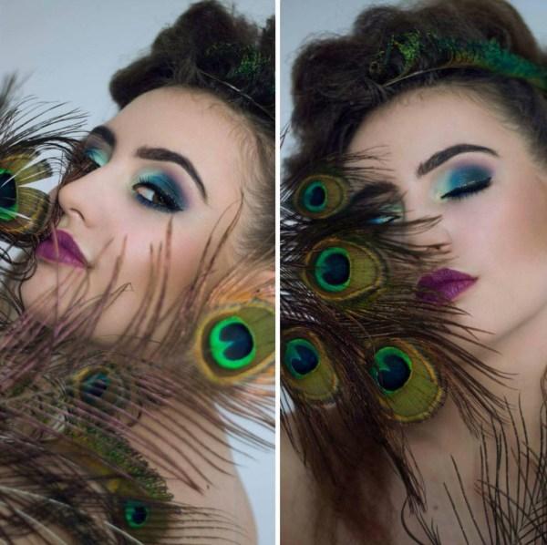 Peacock Makeup Eyes Art