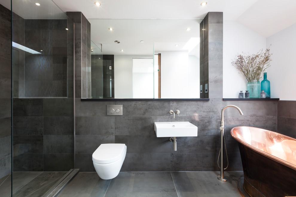 17+ Charcoal Bathroom Designs, Decorating Ideas