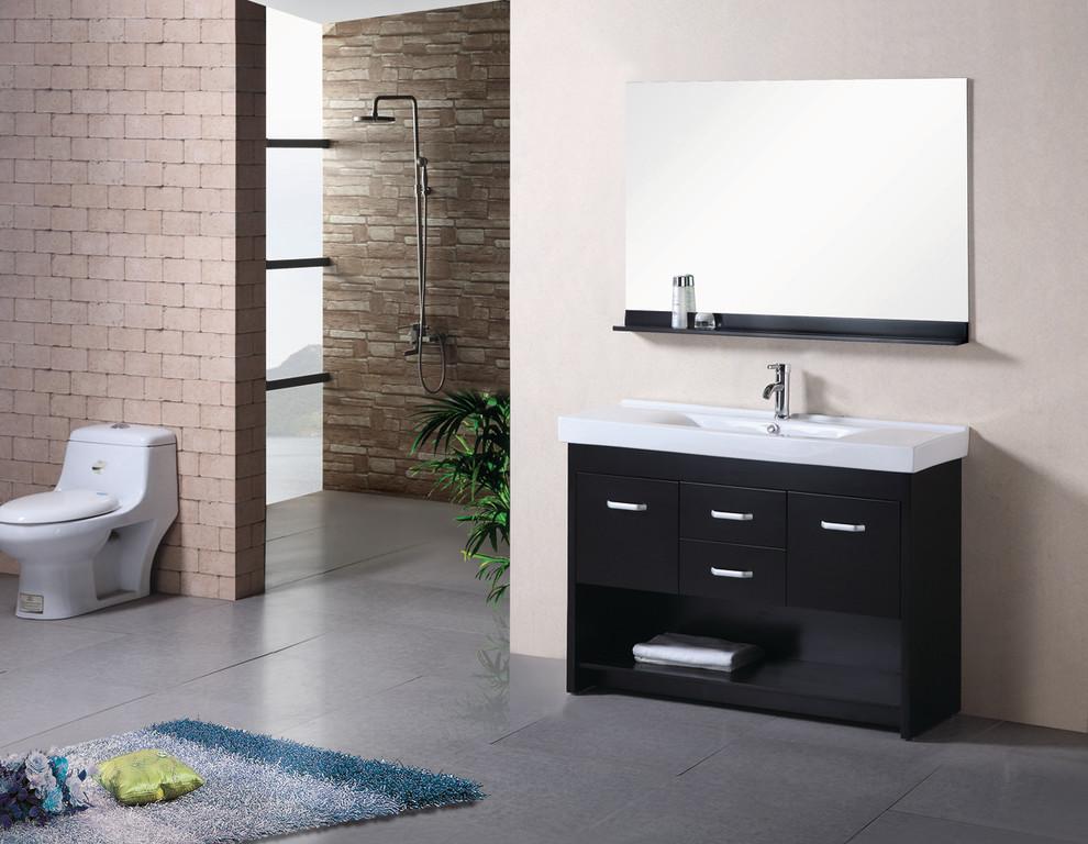 Modern Bathroom Double Sink  Home Decorating Ideas