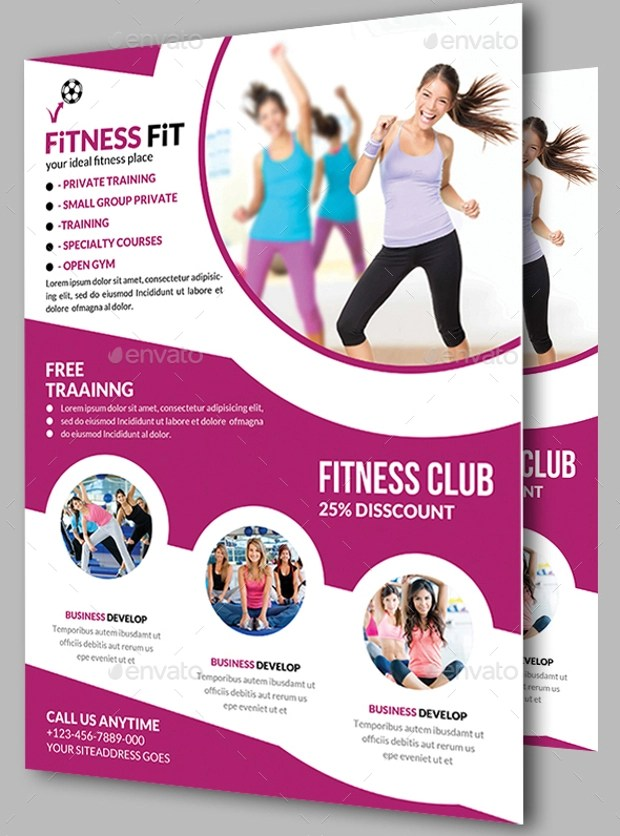 26 Awesome Collection Of Gym Flyer Designs EPS PSD Word Design Trends Premium PSD