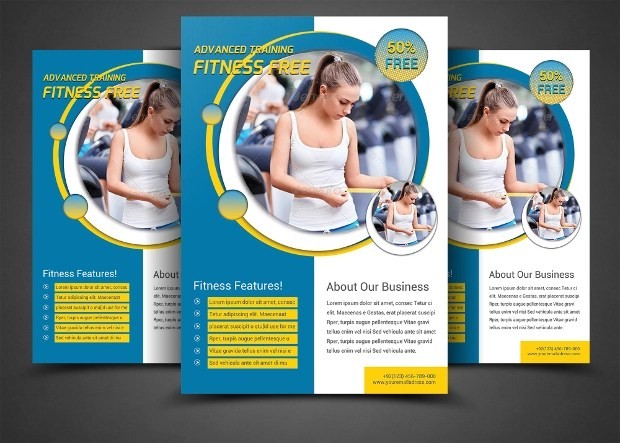 26 Awesome Collection Of Gym Flyer Designs EPS PSD