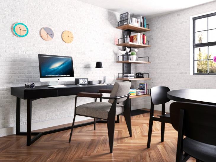 21 Industrial Home Office Designs Decorating Ideas  Design Trends  Premium PSD Vector Downloads