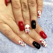 cherry blossom nail art design