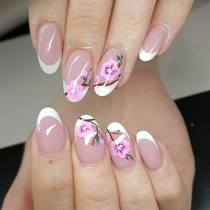 Cherry Blossom Nail Design For Cute Nails 20 Art Designs