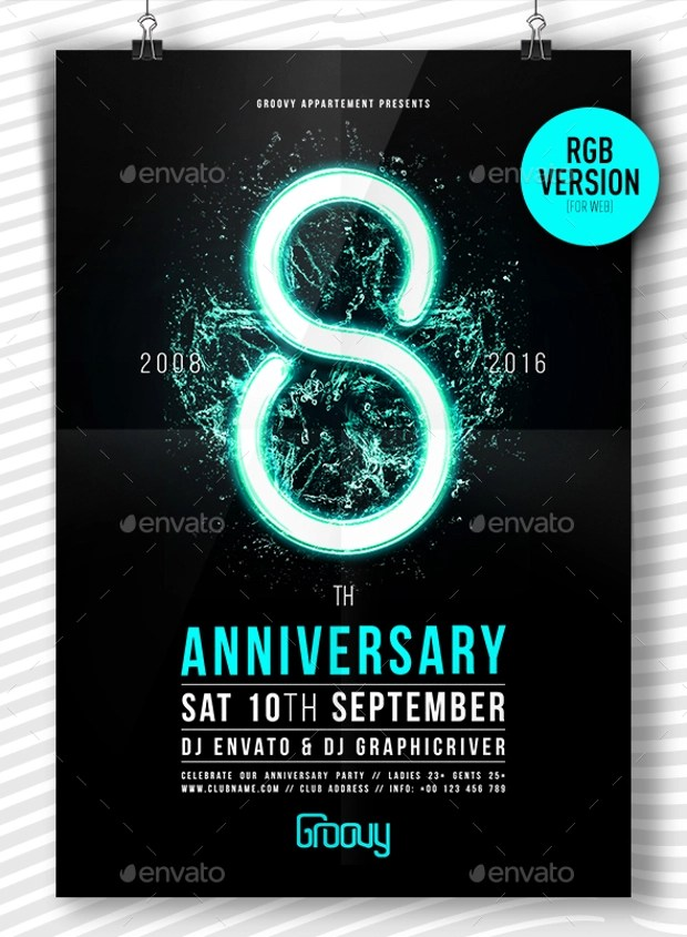 18 Best Anniversary Flyer PSD Designs  Design Trends  Premium PSD Vector Downloads