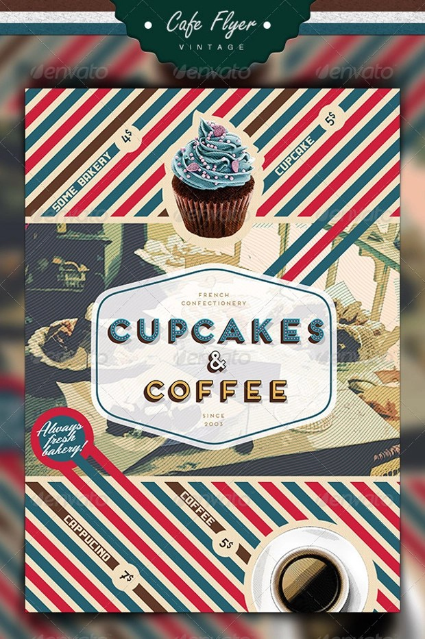 29 Cupcake Flyer Design Templates PSD Publisher