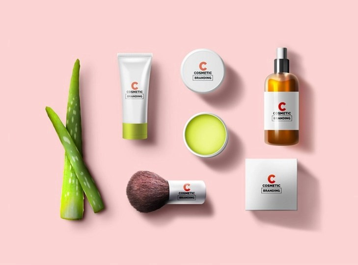 14 Cosmetic Branding Mockups PSD Download Design
