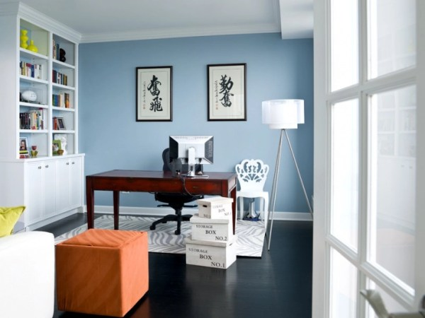 home office paint color ideas 21+ Blue Home Office Designs, Decorating Ideas | Design