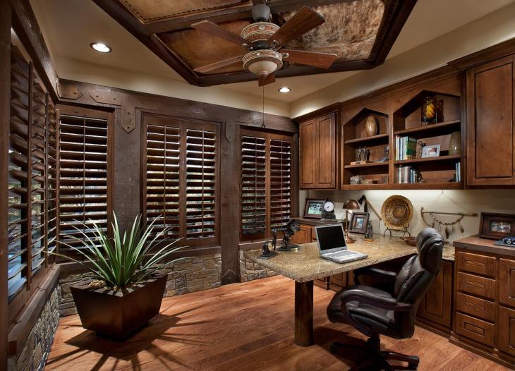 20 Rustic Home Office Designs Decorating Ideas  Design