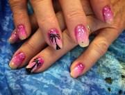 sunset nail art design ideas