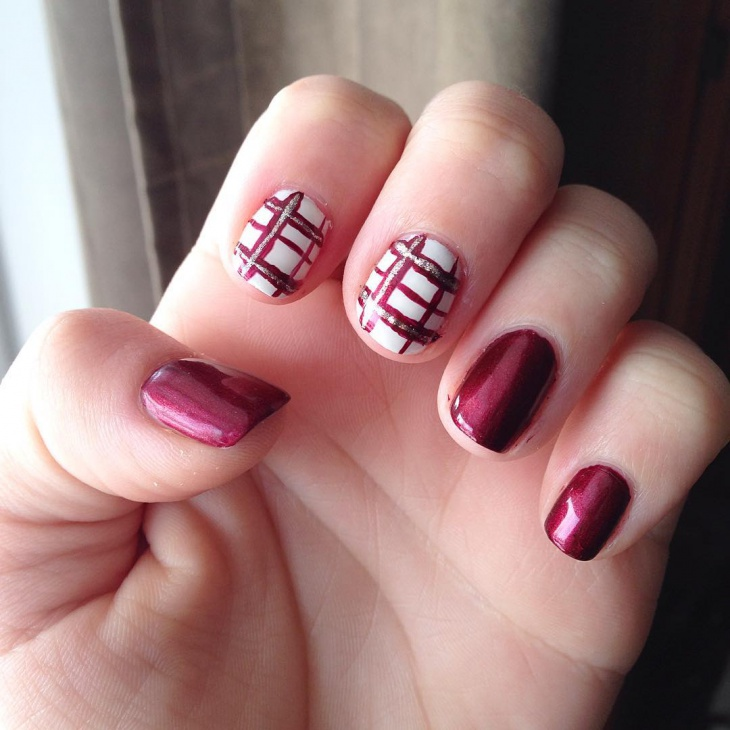 20 Plaid Nail Art Designs Ideas Design Trends