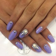 2o rhinestone nail art design