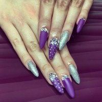 2o+ Rhinestone Nail Art Designs, Ideas