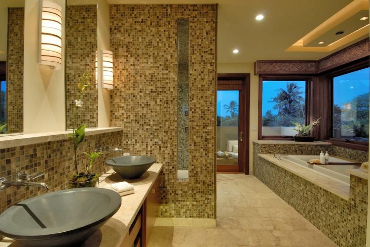20+ Mosaic Tile Bathroom Designs, Decorating Ideas