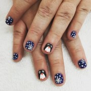 penguin nail art design ideas