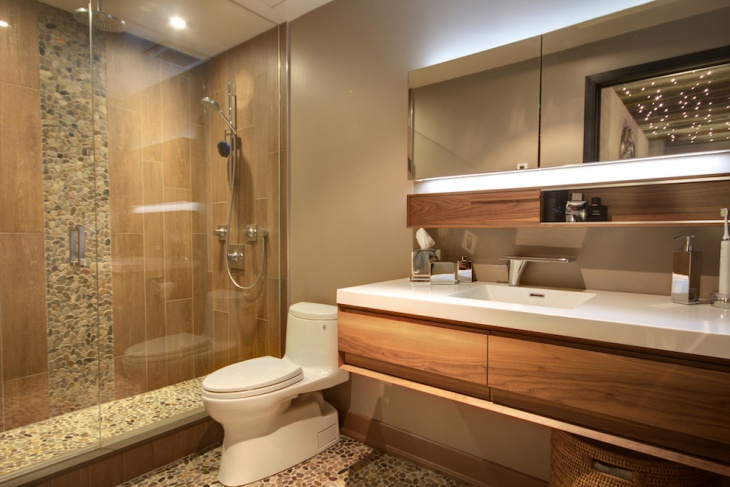 21 River Rock Bathroom Designs Decorating Ideas Design