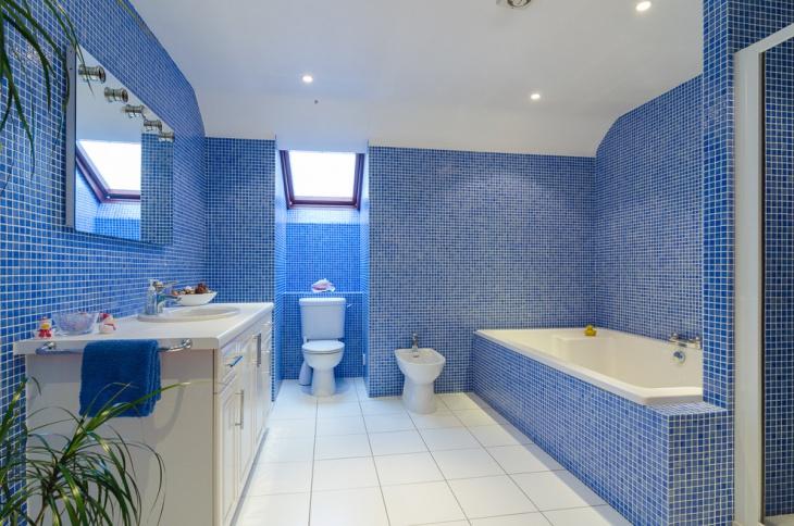 21 Blue Tile Bathroom Designs Decorating Ideas  Design