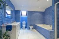 21+ Blue Tile Bathroom Designs, Decorating Ideas | Design ...