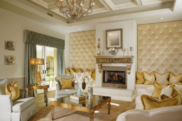 living room fireplace victorian luxury designs interior decor wall gold modern luxurious tufted rooms decorating cornice bedroom curtains vector walls
