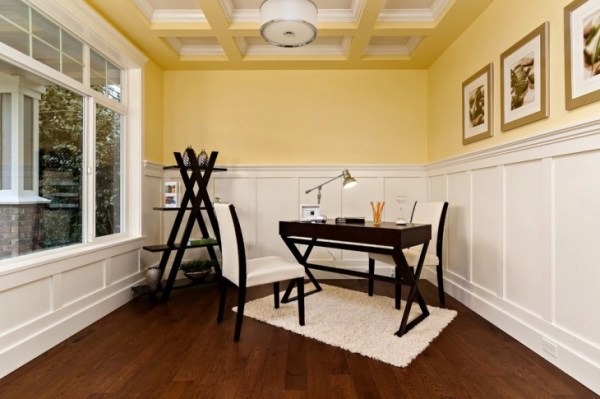 simple home office design ideas 21+ Yellow Home Office Designs, Decorating Ideas   Design
