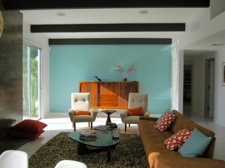 21+ Retro Living Room Designs, Decorating Ideas  Design