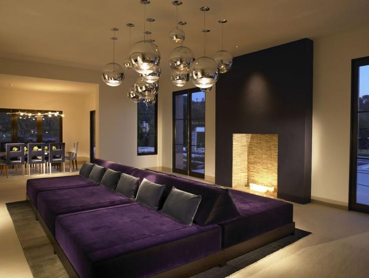 19 Purple and Gold Living Room Designs Decorating Ideas  Design Trends  Premium PSD Vector