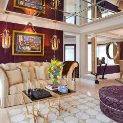 Print Chairs Living Room Ashley Furniture Set 19+ Purple And Gold Designs, Decorating Ideas ...