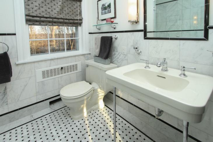 21 Black And White Marble Tiles Bathroom Designs Ideas Design Trends Premium PSD Vector