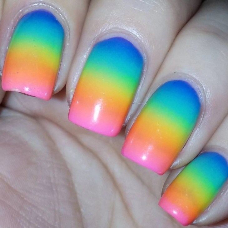 Lovely Nail Art For Square Nails