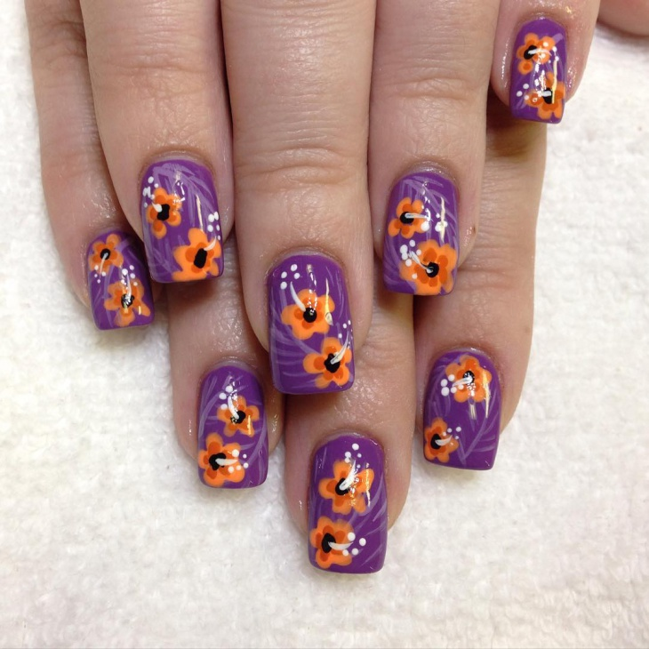 Nail Art Designs By Hand Flower Painted Ideas Design Trends