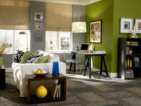 green home office 21+ Creative Home Office Designs, Decorating Ideas