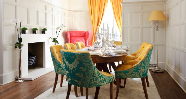 21 best colorful dining