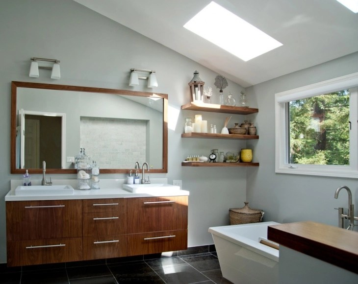 18 Bathroom Floating Shelves Designs Ideas Design