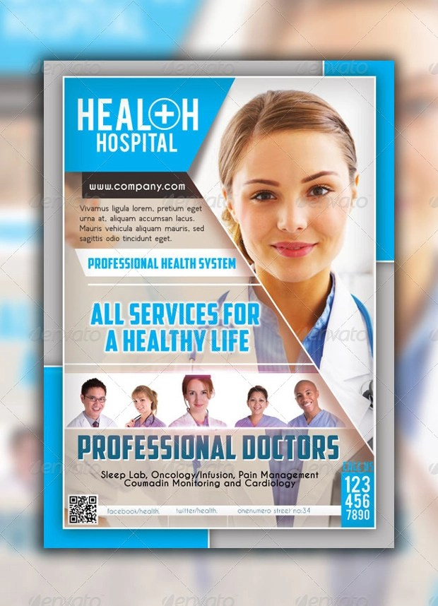 18 Hospital Flyer Templates Printable PSD AI Vector