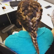 double french braid hairstyle