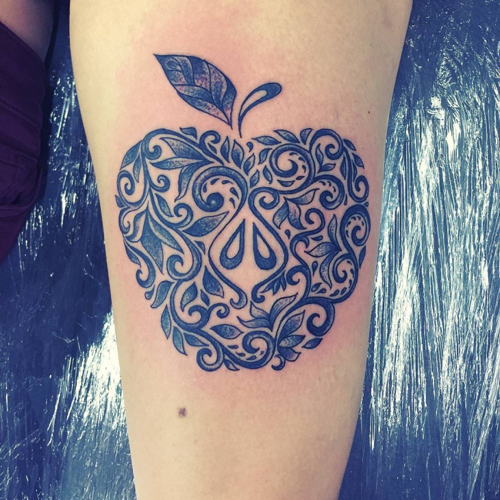21 Apple Tattoo Designs Ideas Design Trends Premium