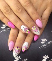 triangle nail art design