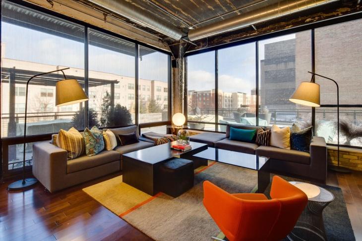 20 Loft Living Room Designs Ideas  Design Trends  Premium PSD Vector Downloads