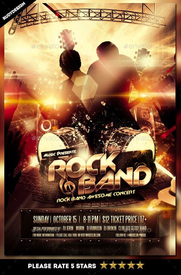 free concert flyer