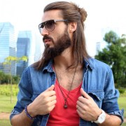 men bun hairstyle ideas design