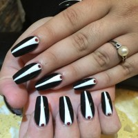 21+ Tuxedo Nail Art Designs, Ideas