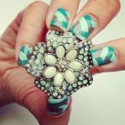 braid nail art design ideas