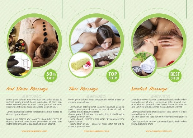 18 Massage Brochures Free PSD AI InDesign Vector EPS