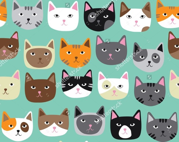 20 Cat Patterns  Free PSD PNG Vector EPS Format
