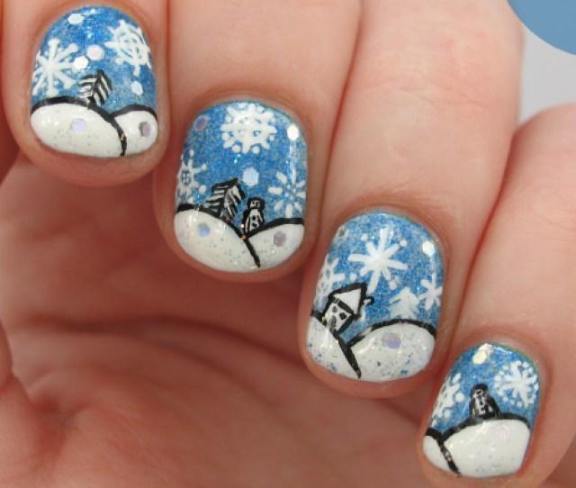 Snow Nail Art Designs Ideas Design Trends Premium Psd